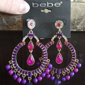 (Nwt!) Bebe Jeweled Dangle Earrings